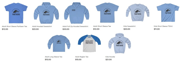Spirit Wear Options